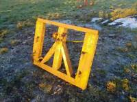 Tractor front loader bale spike with euro 3 brackets £45