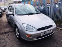FORD FOCUS AUTOMATIC 1.6 GHIA PETROL 4 DOORS SALOON SILVER