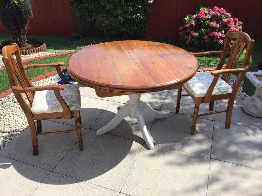 Stupendous Solid Pine Extendable Dining Table In Gorseinon Swansea Gumtree Home Interior And Landscaping Palasignezvosmurscom