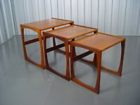 Retro G Plan Nest Of Tables Vintage Furniture Quadrille