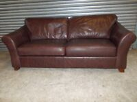 Large Dark Brown Marks & Spencer 3+2-seater Suite (Sofa)