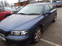 VOLVO S60 2.0 T S 2002 REG BLUE LEATHER ALLOYS