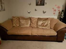 Duck feathered sofa