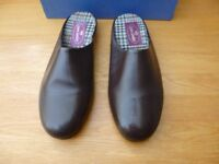 High Quality Leather Mens Mule Slippers size 9