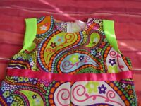 Lovely 70's style dress, neon colours, Halloween party costume party dress up, scooby doo
