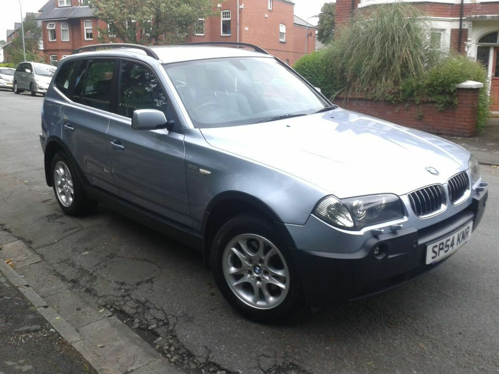 2004 54 bmw x3 3 0se auto met blue full leather low miles free aa cover new mot in llandaff. Black Bedroom Furniture Sets. Home Design Ideas
