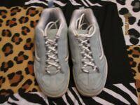 VANS LIGHT BLUE AND WHITE VANS Size 5 WORN A FEW TIMES