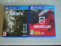 Drive club, Fallout 4 ps4 games
