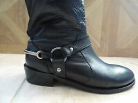 Black Leather Boots Size 6