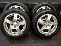 TOYOTA AVENSIS 2000-04 ALLOY WHEELS WITH TYRES 195/60R15