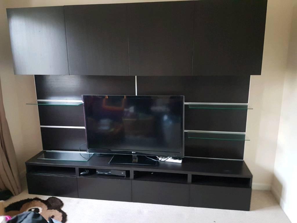 ikea besta framsta tv media unit in glasgow gumtree. Black Bedroom Furniture Sets. Home Design Ideas