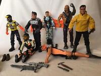 Various Action Man and Strike Force figures