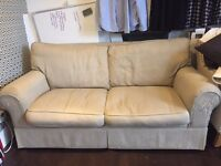 Beige 2-seater sofa (+sofabed) for FREE