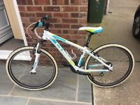 """Girls cube mountain bike 14"""" frame perfect condition hardly used cost £400 new"""