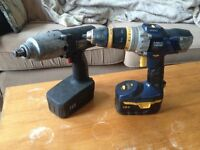 POWER DRILL AND POWER TORQUE GUN, WITH CHARGERS