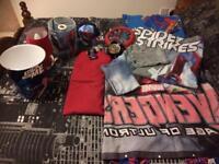 Marvel/Spider-Man bedding and bedroom bits