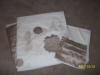 Beige sating double duvet cover set-ng6 can deliver local