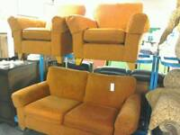 Marks and Spencers Terracotta 3 piece suite #31060 £250