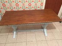 Sold Oak Shabby Chic dining/refectory table.