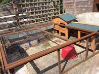 Rabbit hutch & run for sale £45