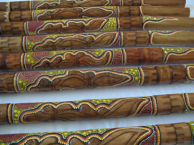 ABORIGINAL DIDGERIDOO GECKO HANDCARVED DOT-PAINTED video inside GREAT SOUND dige