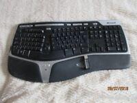 Microsoft ergonomic keyboard.