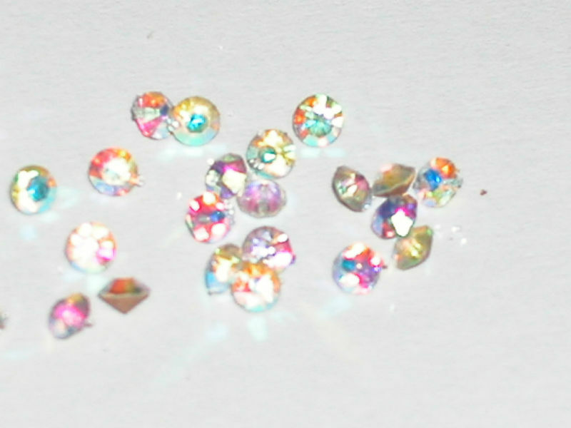 10 AB CRYSTALS pointed back 2.8mm for bottle unfoiled