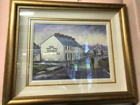 Free derry corner oil painting