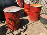 Free to collect 4 x steel barrels