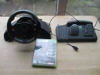 Xbox 360 MC2 Racing Steering Wheel and Pedals and F1 2013 game