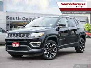 2018 Jeep Compass Limited|DUAL SROOF|HTD LTHR|NAV|RR CAM|SAT