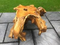 Gorgeous. Teak Root Wood Coffee Table.