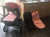 Pink bugaboo chameleon 3 comes with carrycot/seat/raincover/footmuff excellent condition