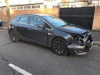 2013 13 VAUXHALL ASTRA 1.7 DIESEL ECOFLEX 6 SPEED LIGHT DAMAGE/SALVAGE REPAIRABLE CAT D