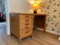 Lebus Military Desk British Oak Vintage Collectable