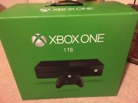 LIKE NEW Xbox One 1tb, Custom controller, games joblot QUICK SELL