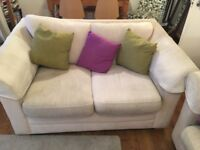 2 MATCHING SOFAS with a sofa bed