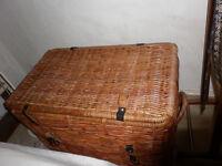 Large wicker trunk