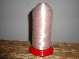 Large Cone of Pink Shiny Bulk Overlocker Sewing Thread