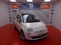Fiat 500 LOUNGE(ONLY 10000 MILES) FREE MOT'S AS LONG AS YOU OWN THE CAR!!! (white) 2015