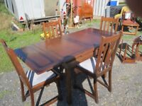 Draw Leaf Table & Chairs