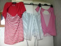LADIES SIZE 14 BRAND NEW CLOTHING, 33 VARIOUS ITEMS, PLUS HANDBAGS and GENTS CLOTHING