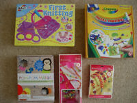 NEW & SEALED - GIRLS CRAFT ITEMS - JOB LOT OF STOCKING FILLERS