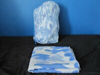 BLUE CAMOUFLAGE SLEEPING BAG
