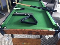 Riley's mini pool/snooker table with accessories