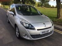 JUST SERVICED,2010 RENAULT GRAND SCENIC 1.6 VVT DYNAMIQUE TOM TOM,PETROL,ALLOYS,11MTHS MOT,HPI CLR