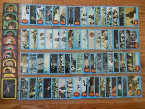 1977 Star Wars 1st series set trading cards w/complete sticker set Topps Rare