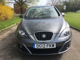 2012 seat altea XL 1.6 tdi se cr eco t diesel f/spec f/sh v/clean £30 tax