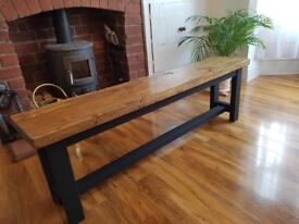 New Massive Handmade Rustic Chunky Wooden Bench 160cm x 48cm x 33cm Any size available FREE DELIV