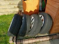 VW winter tyres and alloys